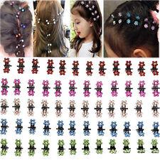 12X Crystal Flower Mini Claw Clamp Hair Clip Hair Pin Barrette Hair Accessories