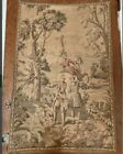 """Vintage Tapestry English Fox Hunt silk backed embroidered 24 x 38"""""""