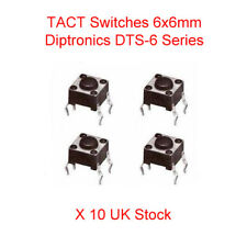 4-Pin 24VDC Mini Micro Momentary Switch 6x6x4.3 mm Tactile Tact Push Button x 10