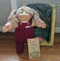 1985 - CABBAGE PATCH KIDS DOLL + BOX & PAPERS * KRIS MINNI * COLECO - TAIWAN IC1