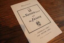 1947 Kaiser Frazer small introductory brochure, nice original