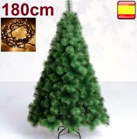 Arbol de navidad 1,80 M / 180 cm pino verde + luz led 100 luces