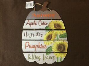 """Fall Autumn Oval Wall Hanging 14"""" Long x 9.5"""" Wide"""
