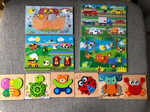 Childrens Wooden Peg Puzzle Bundle