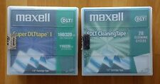 Maxell Super DLTtape 1 160/320GB tape & Maxell SDLT Cleaning Tape - New