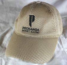 Pechanga Resort Casino Hat Cap Snapback Beige/Gold VTG Baseball cap Rare Mesh