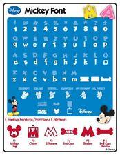 Disney Mickey Font Cricut Cartridge 29-0381 Minnie Mouse Pluto Donald Duck Goofy