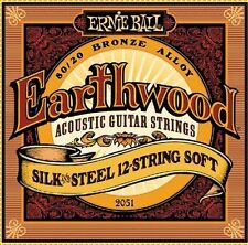 3 Pack! Ernie Ball 2051 Earthwood 12 String Silk & Steel Soft Guitar Strings