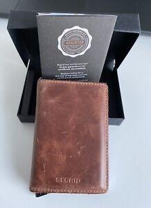 Secrid vintage brown slim Wallet