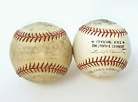 2 used Rawlings MLB National League Official Game Balls Leonard S Coleman Jr