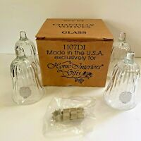 Home Interiors Chantilly Votives Set of 4 Original Box Vintage Candle Holders