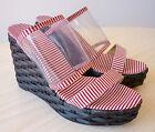 CASTANER Chaussures Femme Été Sandales Compensées Talons Hauts Tissu 38