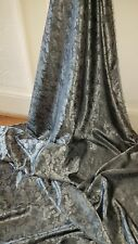 1M two tone silver grey coloured  paisley print dress/lining  Brocade fabric58 ""