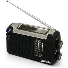 Radio Portátil AM FM Dinamo Wind up Solar y USB Recargable Garantía 3 Años