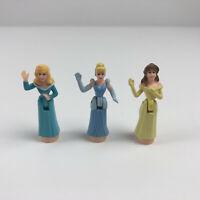 Disney Magic Kingdom Castle Polly Pocket Princess Belle Aurora Cinderella Dolls