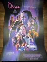 """Drive"" Art Print Movie Poster By Paul Mann XX/325 Mondo Mad Duck Ryan Gosling"