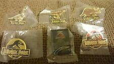 JURASSIC PARK full set of six pins job lot