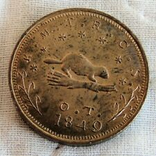 More details for usa 1998 oregon beaver copper ten dollars 27mm medal