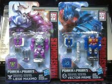 Transformers Power of the Primes Vector Prime and Liege Maximo 2 figure set