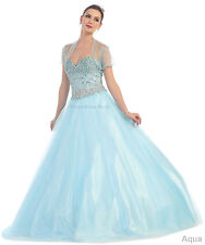 MARDI GRAS DEBUTANTE DRESS PROM QUEEN DANCE BRIDAL GOWN FORMAL PAGEANT SWEET 16