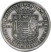 s1364) GERMAN STOLBERG Friedrich Botho (1739-1768) 2/3 thaler 1749 MONTATURA