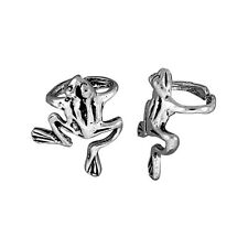 Sterling Silver Frog Ear Cuff Earring (One piece)