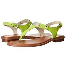 Michael Kors MK Sandals 4OU2MKFA1L MK Plate Thong Pear Size 7  #BigRush