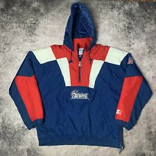 New England Patriots Starter Jacket Size Large Pro Line NFL Football