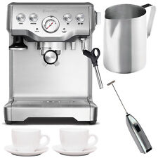 Breville BES840XL Infuser Espresso Machine + Frothing Pitcher, Cups and Frother