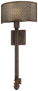 "Metropolitan #N2721-258 Ajourer 1 Light French Bronze Wall Sconce ADA 26.75""h"