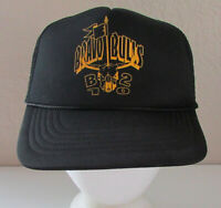Vintage Bravo Bulls Black Trucker Snapback Adjustable Mesh Hat Cap