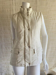 R.m. Williams Wilpena Creek Vest Puffer Quilted Size 12 Cream Pockets