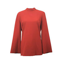Trina Turk Hostess Top Red Long Sleeve Women's Blouse Size 10