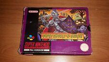 Super Ghouls 'n Ghosts-juego de Nintendo SNES en caja con manual de instrucciones