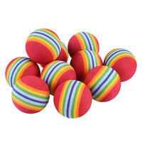 10Pcs/Pack Rainbow Stripe Foam Sponge Golf Balls Swing Practice Training Aids UK