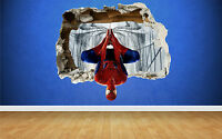 Spider Man 3D Effect Smashed Wall Sticker, marvel style transfer art spiderman
