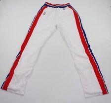 Vtg 90s Champion Mens 38 Team Issued Detroit Pistons Tearaway Pants White 93/94
