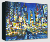 Disney Fine Art Treasures Canvas Collection You, Me and the City-Mickey/Minnie