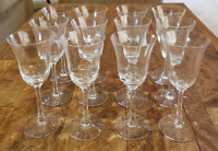 "* Set of 12 * Lenox Crystal ALLURE Clear Optic -- 6-5/8"" Wine Goblets Glasses"