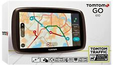 "TomTom GO 610 6"" inch, Free Lifetime World Maps,Speed Cameras and Live Traffic"