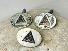 Sterling IYOB FILIAE Jobs Daughters Tie Clip & Cuff Links Oval Freemason Jewelry