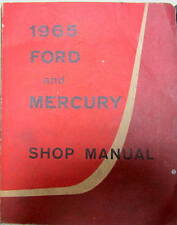 1965 FORD ET MERCURY NOT MUSTANG  SHOP MANUAL MONTEREY PARKLANE CUSTOM GALAXIE