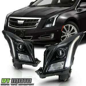 [Black Edition] 2013-2017 Cadillac XTS D3S Non-AFS LED DRL Projector Headlights