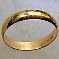 10K Solid Yellow Gold Wedding Anniversary 2 mm Band Ring 1.46 gram size 7