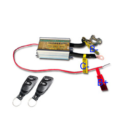 12V Car Battery Cut-off Disconnect Master Kill Switch w/2pcs Wireless Remote