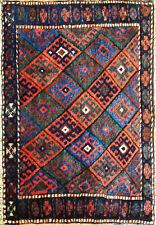 Antique Kurdish Bag face Oriental Rug, Bag, 2' x 3' Excellent, #17122
