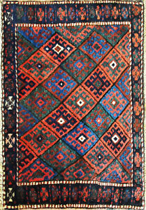 Antique Kurdish Bag face Oriental Rug, Bag, 2' x 3' Excellent, #17122