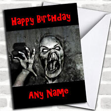 Scary Horrible Lady Monster Horror Personalized Birthday Card