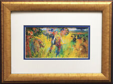 "LeRoy Neiman ""The Big Five"" Newly CUSTOM FRAMED Print Animals Elephant Lion 5"
