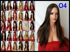 Brown Wig Natural Fashion Party Long Straight Full Ladies Stage Halloween Wig O4